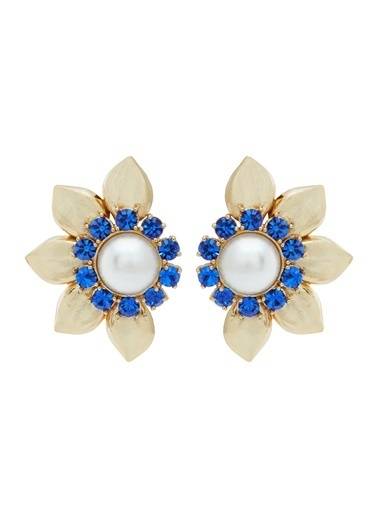 Ninon Ninon Mina Sapphire Kristal Küpe Mavi